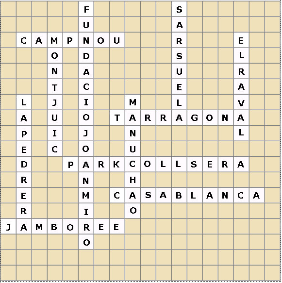 crossword barcelona completed 1